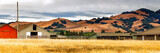 Fototapety California landscape panorama with rolling golden hills