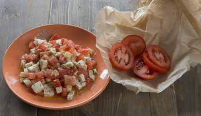 Caprese Salad and tomatoes