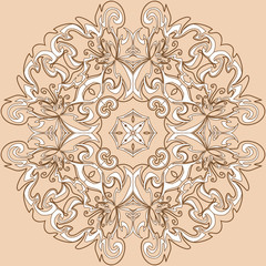 Floral round ornament