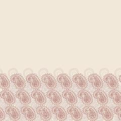Abstract backdrop. Beige banner design template. Wave doodle
