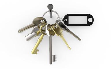 Schlüsselbund mit Nagel und Anhänger