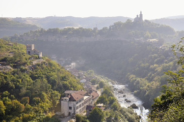 View from Veliko Tarnovo, medieval town in Bulgaria