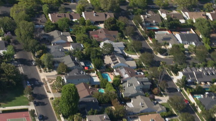 Aerial View of Los Angeles Suburbs California