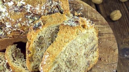 Rotating Walnut Bread (seamless loopable)