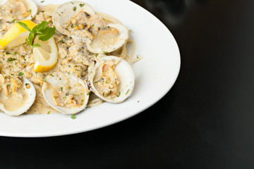 Italian Pasta with Clam Sauce