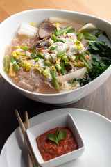 Pho Style Soup with Steak