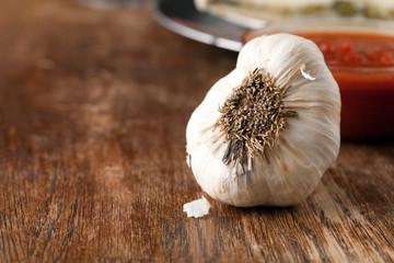 Garlic Bulb Macro