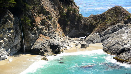 Time Lapse of McWay Falls Beach, Big Sur California