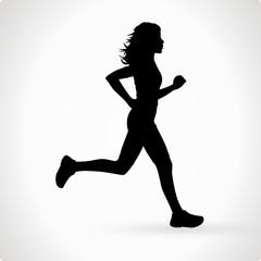 Läuferin Vektor Silhouette