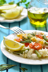 Rice with vegetable.
