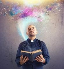 Priest observes universe light