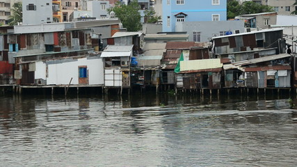 Shacks on the Saigon River - Ho Chi Minh City (Saigon)  Vietnam