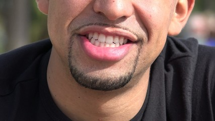 Smiling Man, Happy Hispanic Male