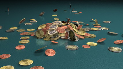 Euro Coins Drop 3D