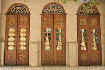 A door decorated