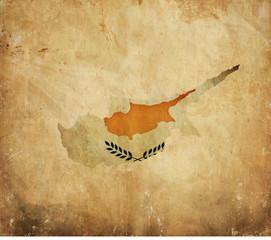 Vintage map of Cyprus on grunge paper