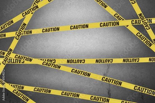 Leinwandbild Motiv Strips of caution