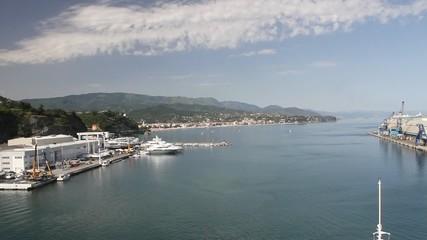 Seaport water area. Savona, Italy