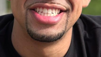 Smiling Man, Happy Hispanic Male
