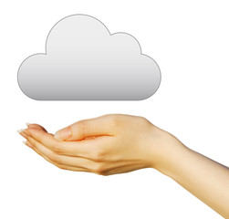 クラウド(雲)と手
