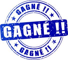 win blue stamp (french translation)