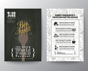 Food Festival Poster Brochure Flyer design Layout template
