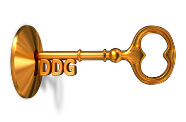 DDG - Golden Key is Inserted into the Keyhole.