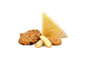 Homemade Cake ,Cookies and bakery isolate on white background