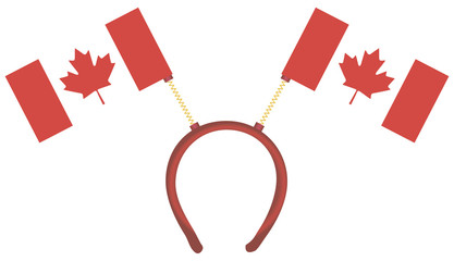 Witty headdress flags Canada
