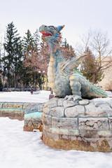 KOZELSK: dragon in the children's park