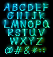 Sparkling big letters