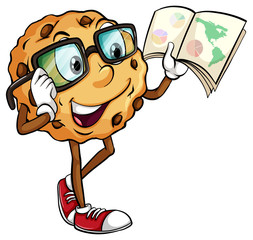 A crunchy cookie reading