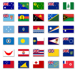 Flags of Australia and Oceania.