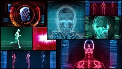 Bionic 3D Medical Science Montage (4K Loop)