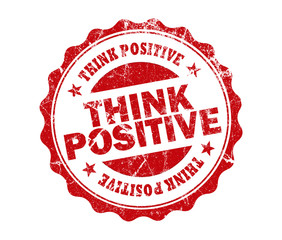 think positive stamp