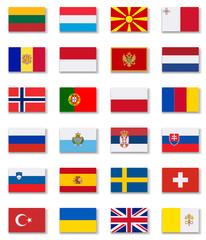 European Countries Flags Set 2 .