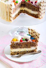 Banana layered cake