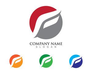 F Logo template