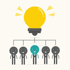 Brainstorm. Teamwork concept,vector,illustration.
