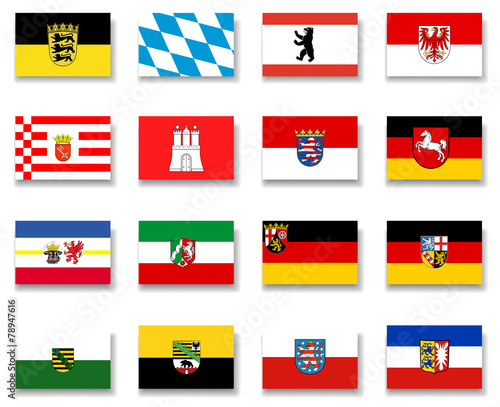 Germany States Flag Collection-Complete - 78947616