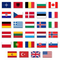 Nato Complete Button Flag Collection