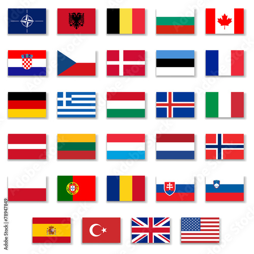 Nato Complete Button Flag Collection - 78947849