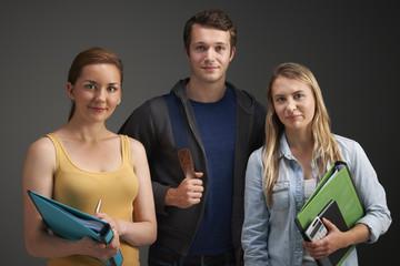 Studio Portrait Of Three University Students