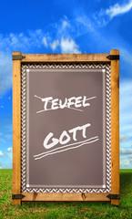 Strassenschild 34 - Gott