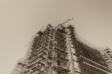 Building Construction Sepia