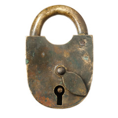 Old padlock.Close-up.
