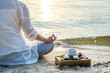 Leinwanddruck Bild - Woman meditating