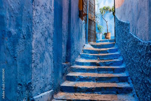 Fotobehang Marokko Hinterhof in Tanger