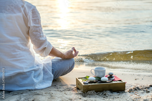 Woman meditating - 78950078