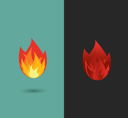 logo Fire. flame icon set in vector format